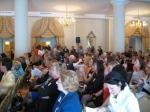Briefing crowd