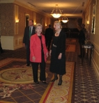 Clinton in hall