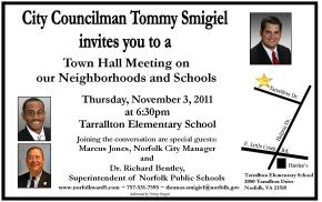 Town Hall meeting Nov 3