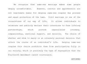 4th Circuit: Marriage baninvalid