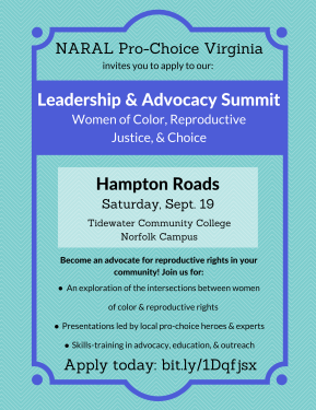 NARAL Women of Color summits in September